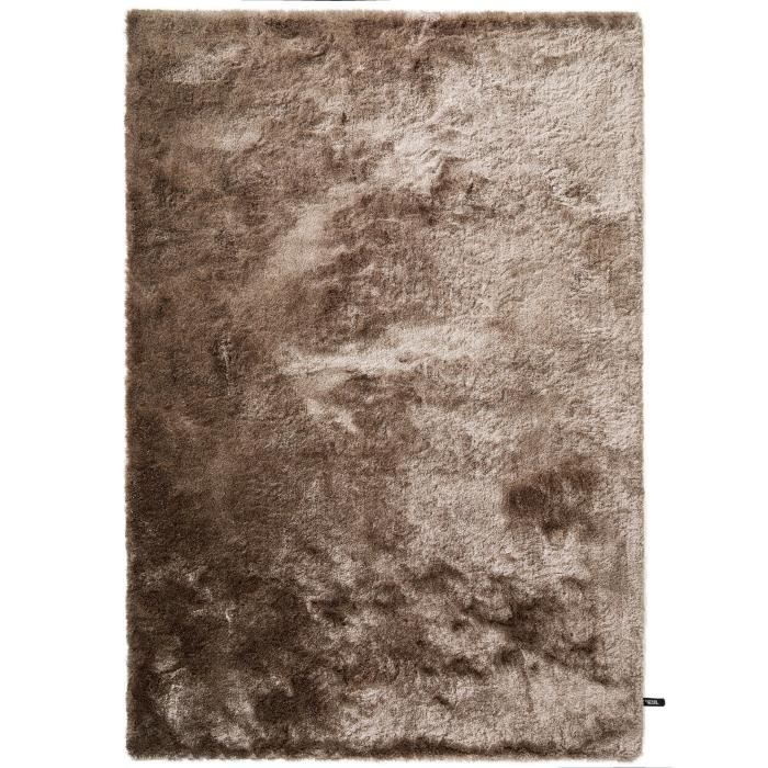 Tapis shaggy à poils longs Whisper Marron clair 80x150 cm - Tapis descente  de lit