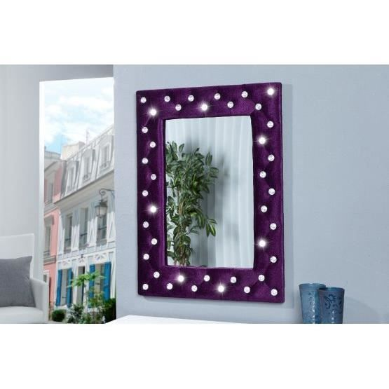 miroir design petillon violet achat vente miroir tissu. Black Bedroom Furniture Sets. Home Design Ideas
