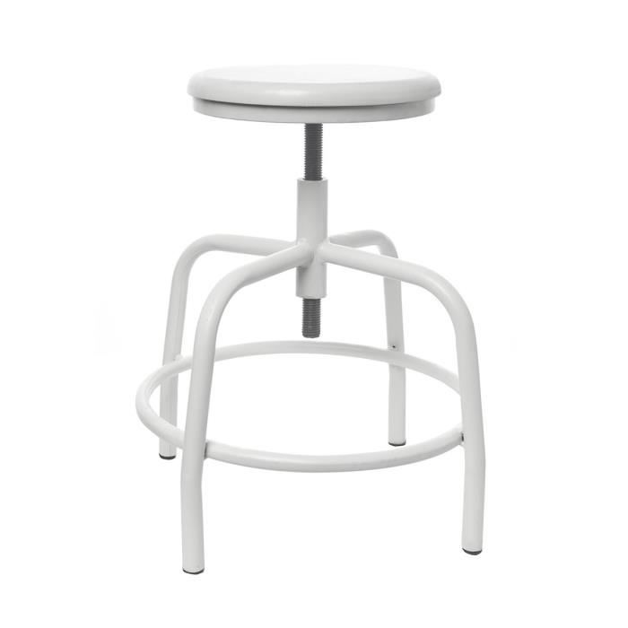 tabouret vis industriel hoorn couleur blanc achat. Black Bedroom Furniture Sets. Home Design Ideas