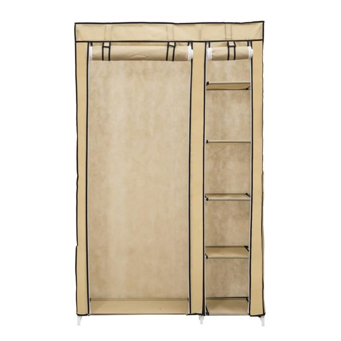 armoire meuble de rangement en tissue toile 4 achat. Black Bedroom Furniture Sets. Home Design Ideas