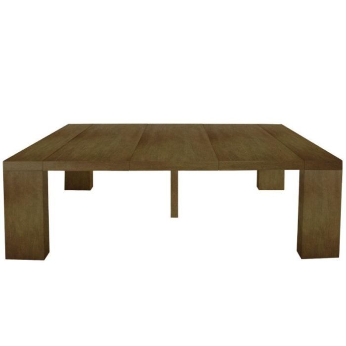 Console extensible sublimo en bois massif noyer achat vente table mang - Console transformable en table ...