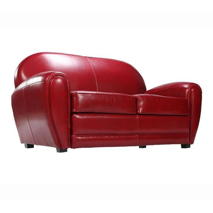 Canap club 3 places rouge confort et originalit achat vente canap - Canape rouge 3 places ...