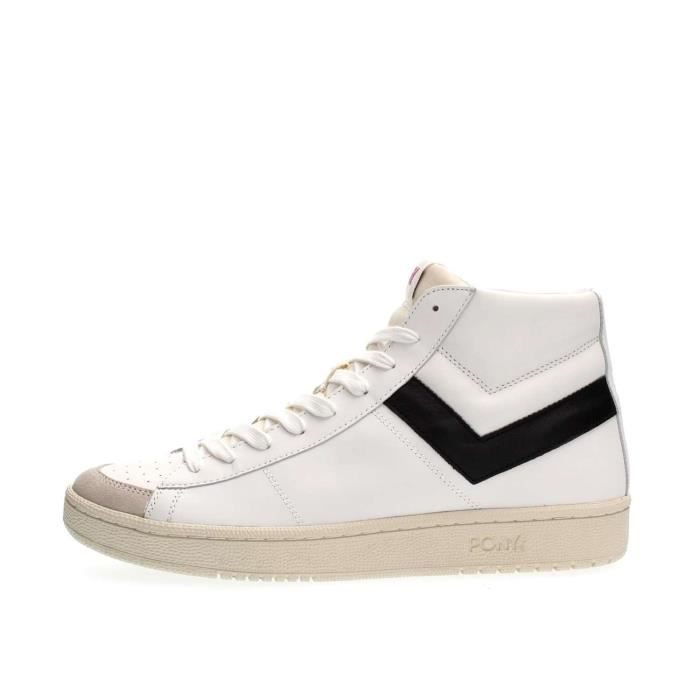 PONY SNEAKERS Homme OFF WHITE/BLACK, 45