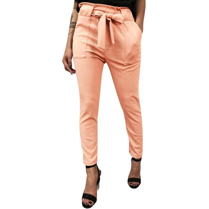 Pantalons Slim Taille Ete Casual Minetom Mode Femme Crayon Chic PAzxFZw