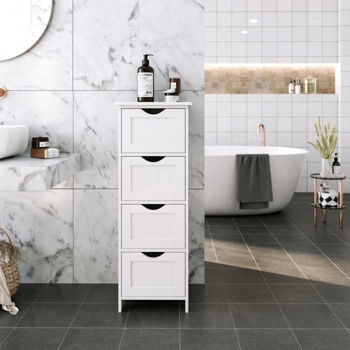 Meuble de rangement salle de bain a tiroir