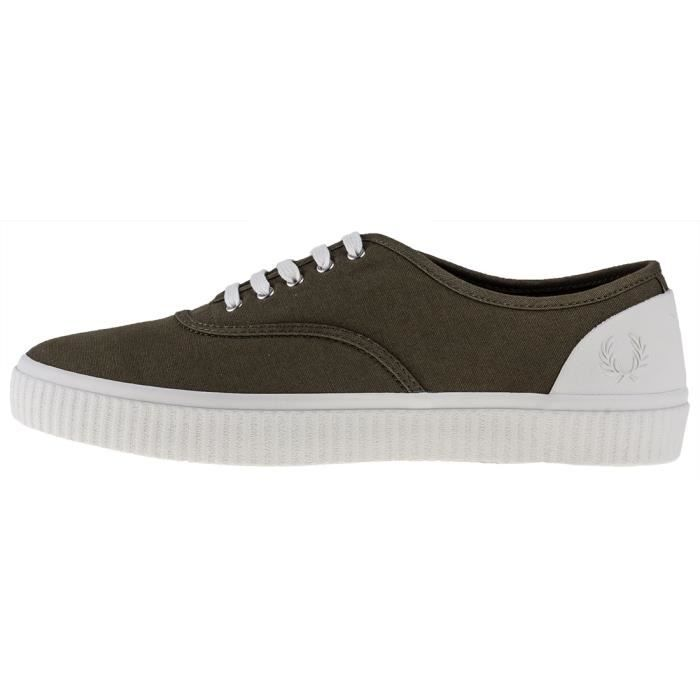 Fred Perry Barson Hommes Baskets olive - 9.5 UK