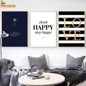 Moderne Happy Cite Toile Peinture Noir Mur Blanc Photos Pour