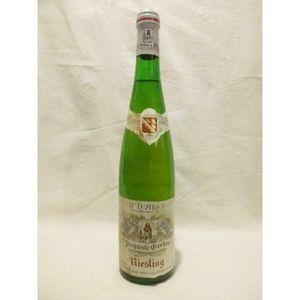 VIN BLANC riesling auguste gerber (b2 étiquette tâché) blanc