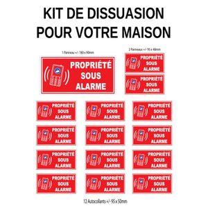 CAMÉRA DE SURVEILLANCE Kit de dissuasion pour la maison (lot de 15 pièces