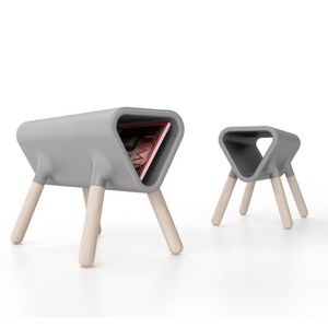 TABLE D'APPOINT Guéridon design Didier STAMP EDITION - Gris