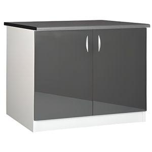 MEUBLE SOUS-ÉVIER Meuble cuisine bas 120 cm sous évier OXANE gris