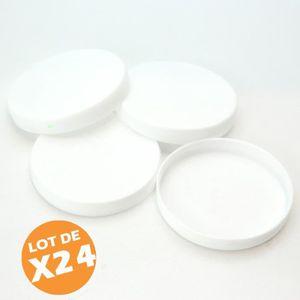 PIÈCE DE PETITE CUISSON Lot de 24 couvercles capsules de Pot de Yaourt dia