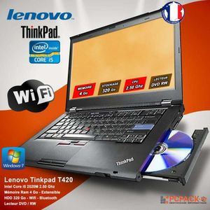ORDINATEUR PORTABLE LENOVO THINKPAD T410 CORE i5 RAM 4Go HDD 320GO Win