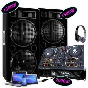 PACK SONO SONO PACK 2 ENCEINTES 2x1500W Max + 1 AMPLI 2000W