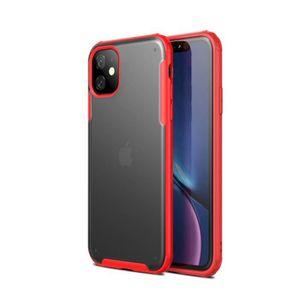 COQUE - BUMPER Coque iPhone 11,Rouge Ultra Slim Transparent Antic