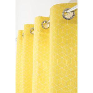 RIDEAU Rideau 100% Coton 140 x 240 cm ˆà Oeillets Jaune C