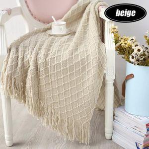 COUVERTURE - PLAID TEMPSA 130x150 cm Crochet Canapé Jeter Couverture
