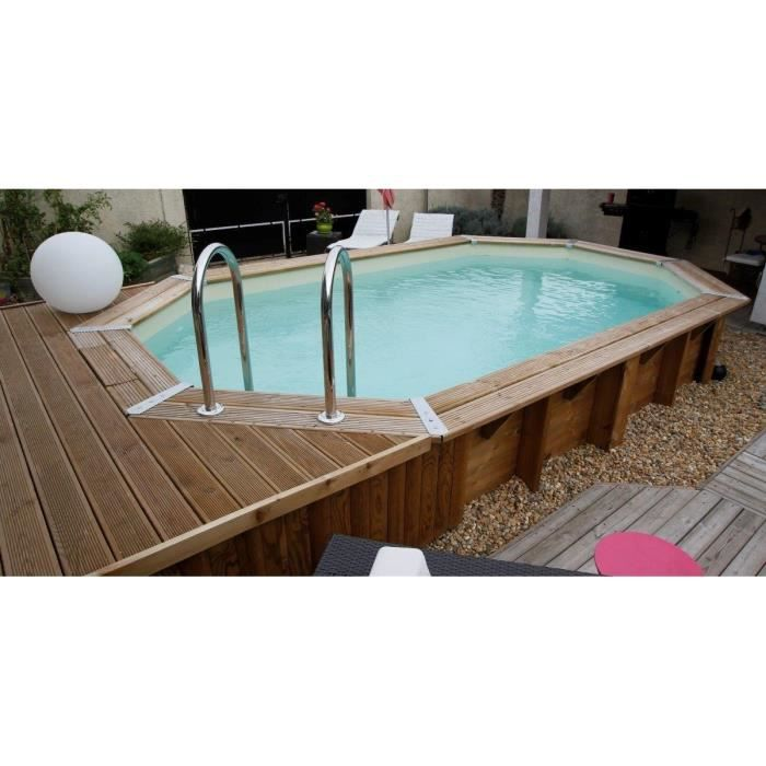 Piscine semi enterr e 5 x 3 for Piscine semi enterree bois hexagonale