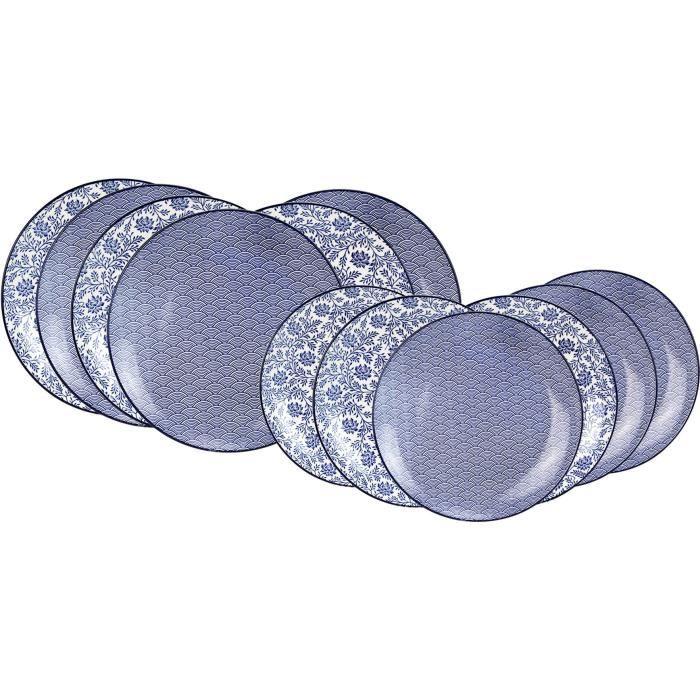 ARDTIME EC-BL12AS Service de table 12 pièces -china blue-