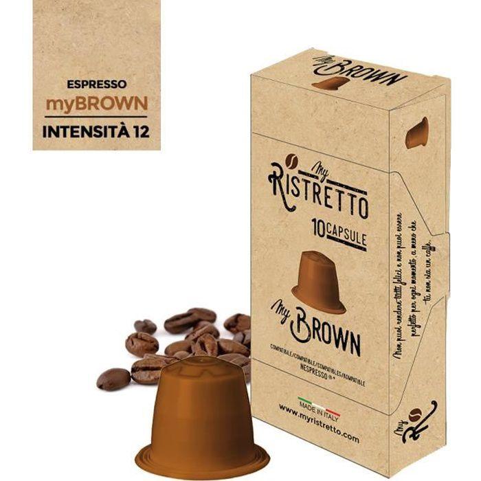 100 Capsules de Café Compatibles Nespresso – Café MyBrown 100% Robusta - MyRistretto