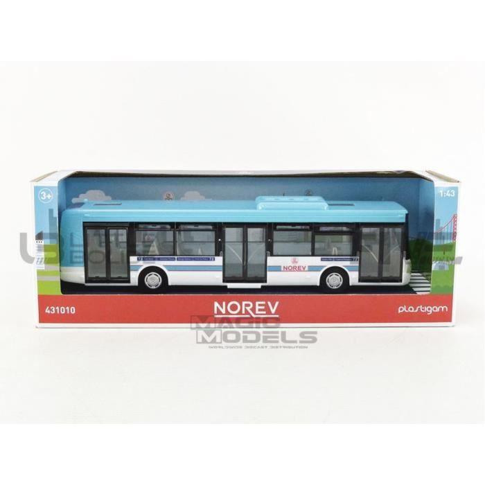 Voiture Miniature de Collection - NOREV 1/43 - IRISBUS Bus - Blue / White - 431010BL