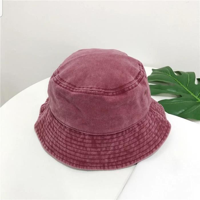 Red wine 56-58cm -Chapeau de pêcheur coupe vent unisexe, bob, style hip hop, chaud, pour l'extérieur