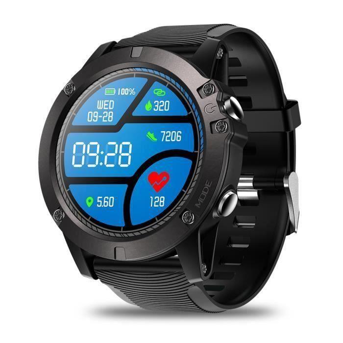 Montre Connectée Écran Tactile Étanche IP68 Moniteur De Fréquence Cardiaque Suivi Journée, Sport Smartwatch Noir ZEBLAZE VIBE 3 PRO