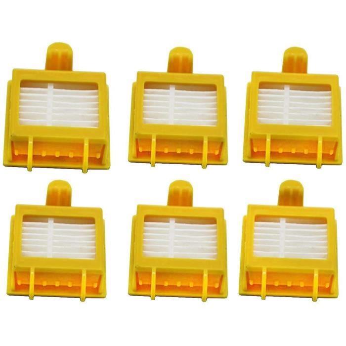 Home Spare Parts - Kit de 6 filtres compatibles pour iRobot Roomba série 700 - Accessoires de rechange - Pack filtres HEPA - Robot a
