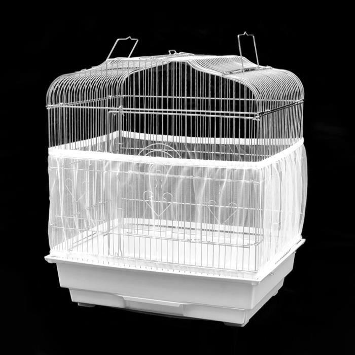 Drfeify accessoire de Cage d'oiseau Accessoire de cage à oiseaux lavable en machine aéré maille filet couverture en tissu