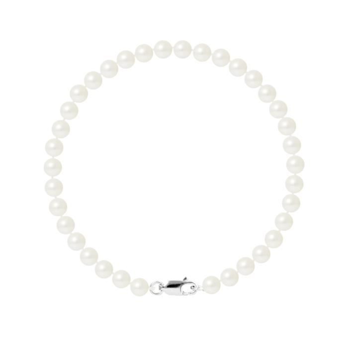 PERLINEA Bracelet Perles de Culture et Or Blanc 375° Femme