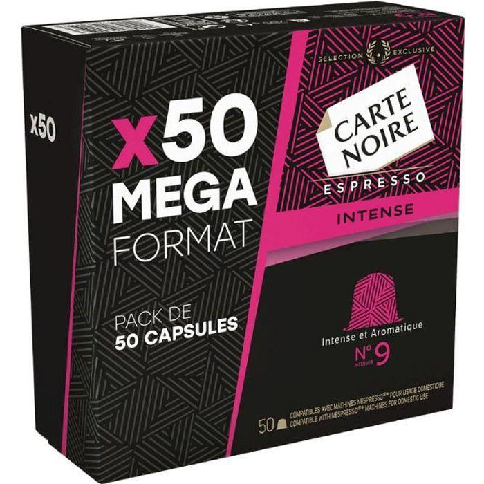 CARTE NOIRE Café Espresso intense N°9 - 50 capsules - 265 g