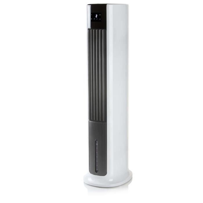 DOMO Refroidisseur d'air à télécommande 105 cm 65 W Blanc et noir