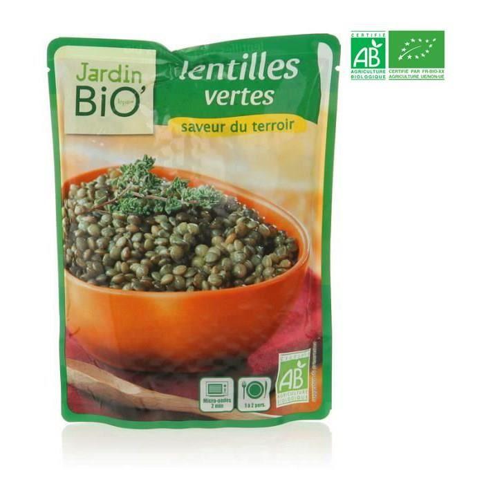 JARDIN BIO Lentilles vertes bio - 250g
