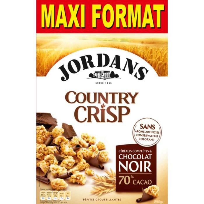 JORDANS Céréales au chocolat Country Crisp - 850 g