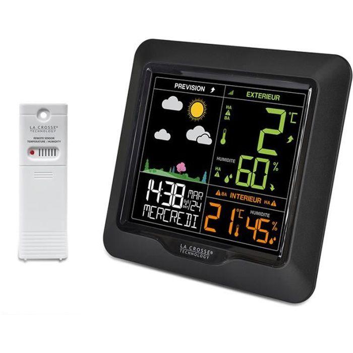 La Crosse Technology WS6822BLA-B Station météo colorée