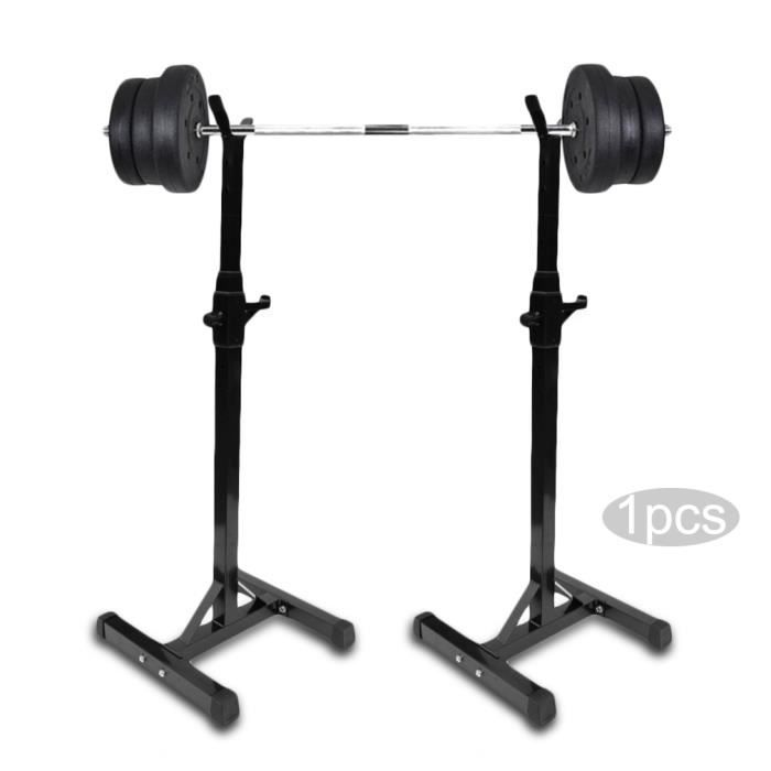 Cage de Squat Supports de Squat Réglable Squat Rack avec Barres de Support Charge Max.100 KG