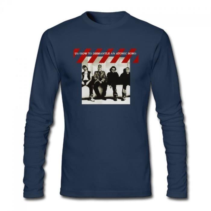 U2 How To Dismantle An Atomic Bomb T-shirt à manches longues en coton pour homme