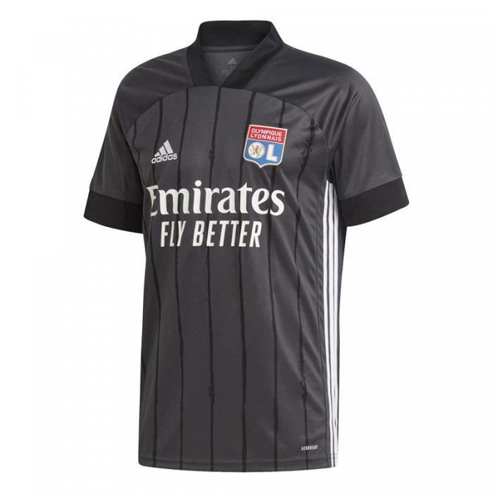 Maillot Olympique Lyonnais - 2020-2021 Maillot de Football Away Jersey - Noir