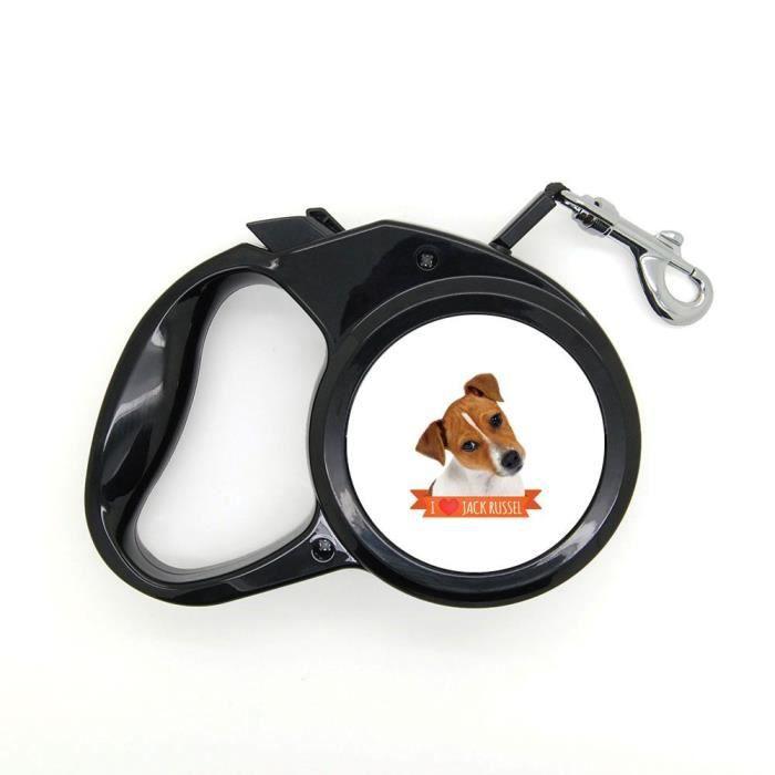 Laisse pour chien rétractable 3m jack russel