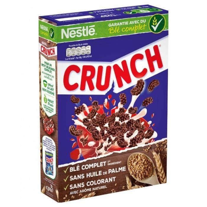 Nestlé Crunch Grand Format 750g (lot de 4)