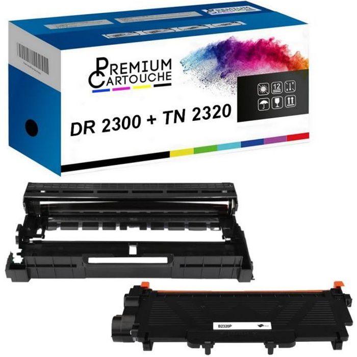 Tambour + Toner DR-2300 + TN2320 Compatible pour Brother HL-L2300D-L2320D-L2340DW-L2360DN-L2360DW-L2365DW-L2380DW, DCP-L2500D-L2520D