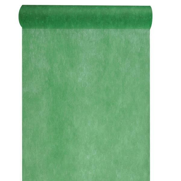 REF/2810- 1 Chemin de table in tissé vert sapin 60cm x 10m