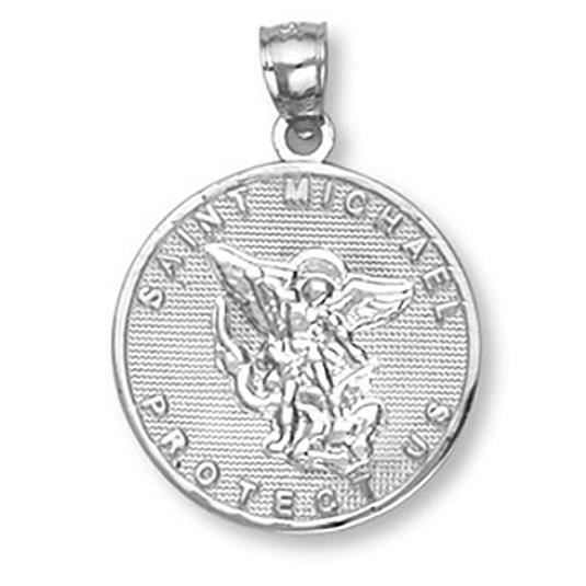 Pendentif 10 ct Or Blanc 471/1000 St. Michael