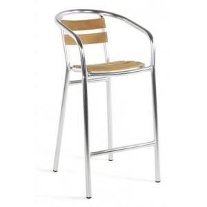 tabouret de bar aluminium et bois paris prix achat vente tabouret de bar bleu soldes. Black Bedroom Furniture Sets. Home Design Ideas