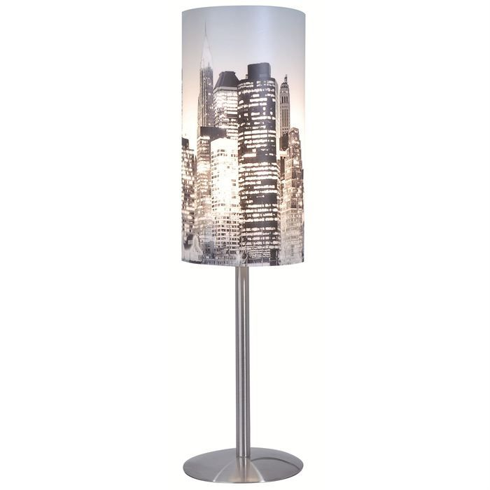 lampe new york achat vente lampe en m tal cdiscount. Black Bedroom Furniture Sets. Home Design Ideas