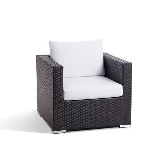 fauteuil de jardin 2 places en rotin et coussins valdolla. Black Bedroom Furniture Sets. Home Design Ideas