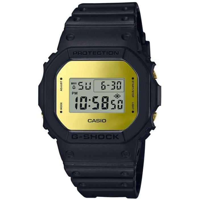 CASIO Montre digitale G-SHOCK DW-5600BBMB-1ER Noir Doré
