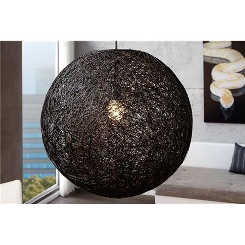 Suspension cocoon noir achat vente suspension cocoon for Suspension boule noire
