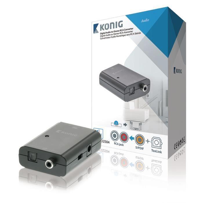 CÂBLE TV - VIDÉO - SON Convertisseur audio numérique vers RCA stéréo, Tos