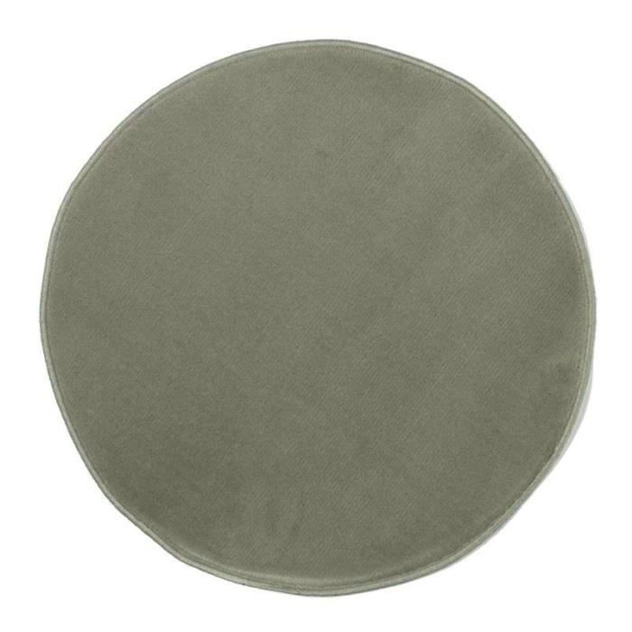pablo tapis rond 70x70cm gris achat vente tapis cdiscount. Black Bedroom Furniture Sets. Home Design Ideas